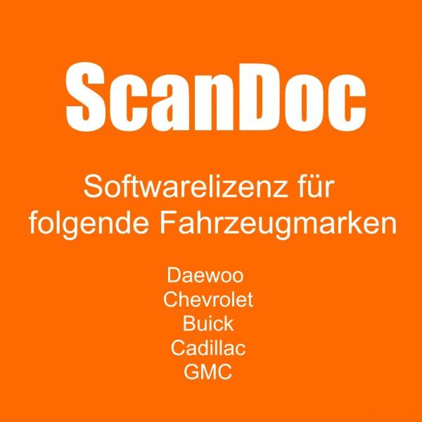 Diagnosesoftware für DAEWOO und CHEVROLET